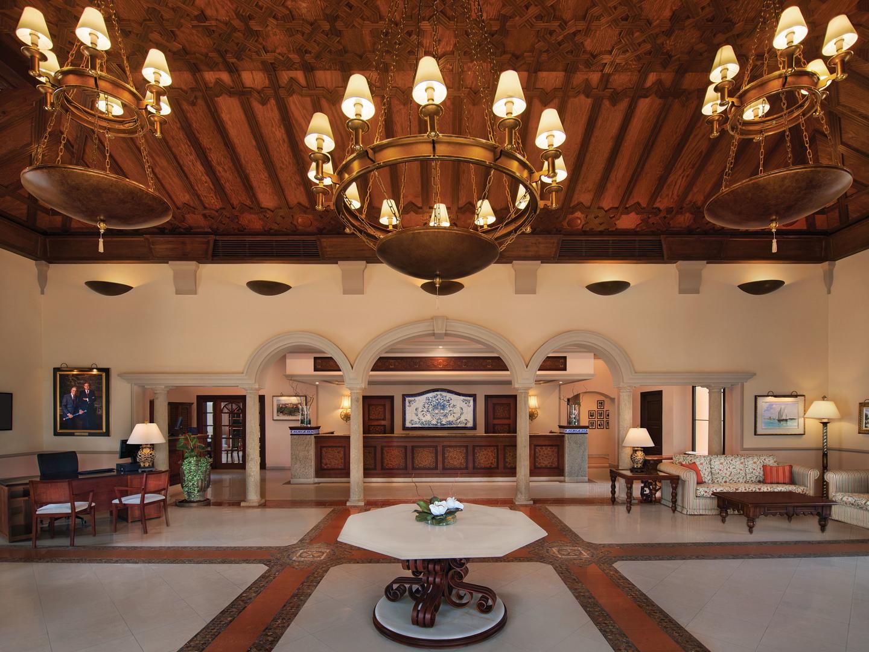 Marriott's Playa Andaluza Lobby. Marriott's Playa Andaluza is located in Estepona, Malaga Spain.