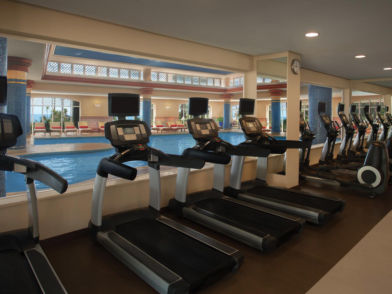 Marriott's Playa Andaluza Fitness Center. Marriott's Playa Andaluza is located in Estepona, Malaga Spain.
