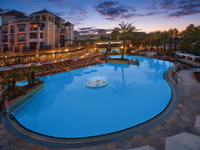 Marriott's Playa Andaluza La Fuente Pool. Marriott's Playa Andaluza is located in Estepona, Malaga Spain.