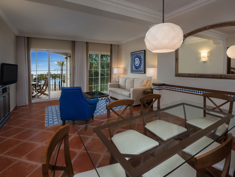 Marriott's Playa Andaluza Villa Living Room. Marriott's Playa Andaluza is located in Estepona, Malaga Spain.