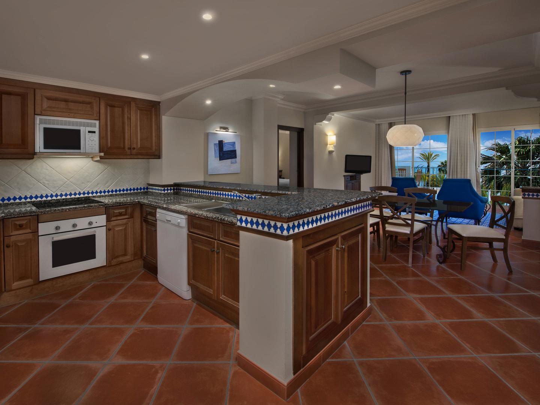Marriott's Playa Andaluza Villa Kitchen. Marriott's Playa Andaluza is located in Estepona, Malaga Spain.