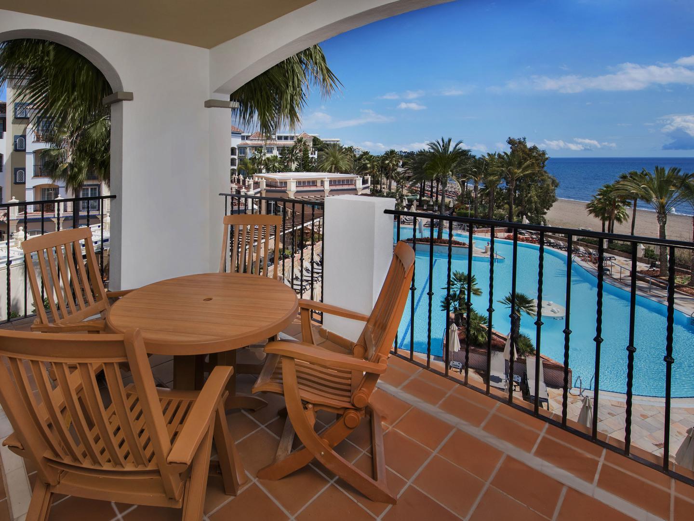 Marriott's Playa Andaluza Villa Balcony. Marriott's Playa Andaluza is located in Estepona, Malaga Spain.