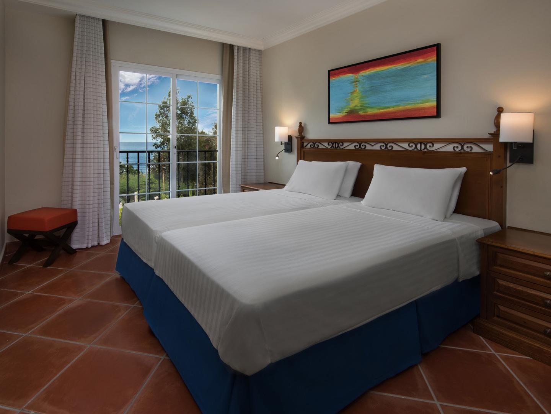 Marriott's Playa Andaluza Villa Bedroom. Marriott's Playa Andaluza is located in Estepona, Malaga Spain.