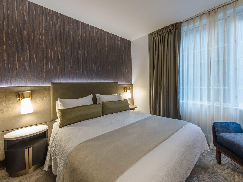Marriott Vacation Club Pulse<span class='trademark'>®</span>, New York City King Guestroom. Marriott Vacation Club Pulse<span class='trademark'>®</span>, New York City is located in New York City, New York United States.