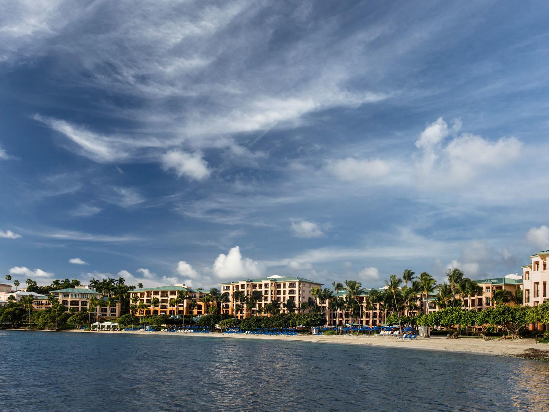 The Ritz-Carlton Club<span class='trademark'>®</span>, St. Thomas Resort Exterior Pool View. The Ritz-Carlton Club<span class='trademark'>®</span>, St. Thomas is located in St. Thomas,  Virgin Island U.S..