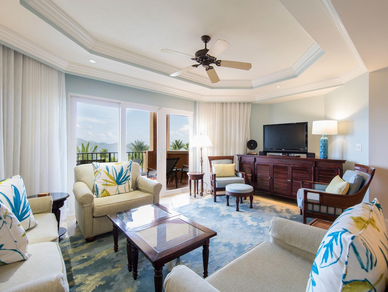 The Ritz-Carlton Club<span class='trademark'>®</span>, St. Thomas Residence Living Room. The Ritz-Carlton Club<span class='trademark'>®</span>, St. Thomas is located in St. Thomas,  Virgin Island U.S..