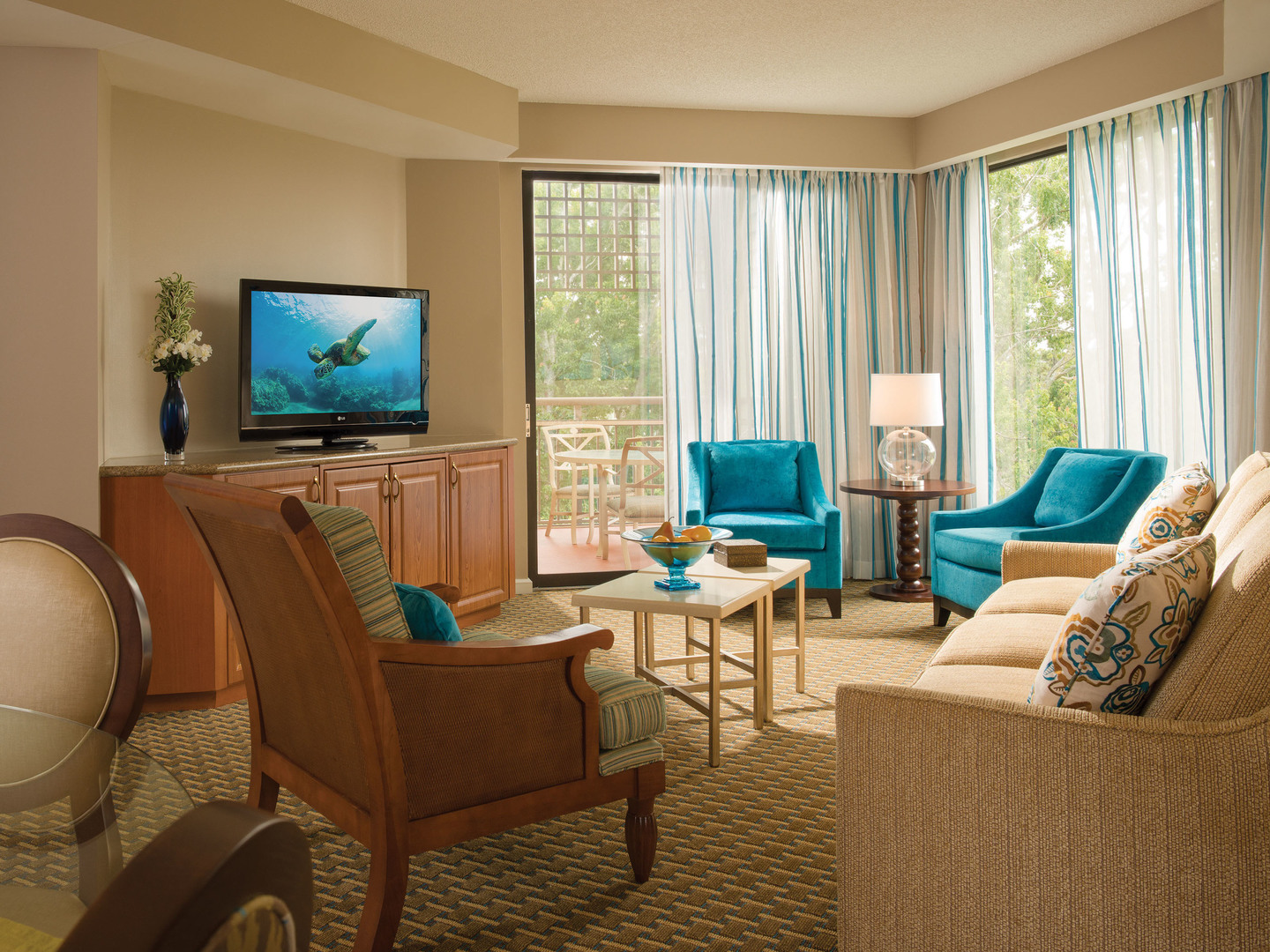 Marriott's Royal Palms Villa Living Room. Marriott's Royal Palms is located in Orlando, Florida United States.