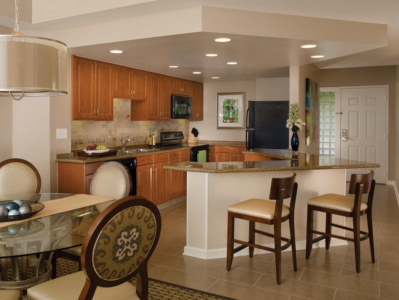 Marriott's Royal Palms Villa Dining Room/Kitchen. Marriott's Royal Palms is located in Orlando, Florida United States.