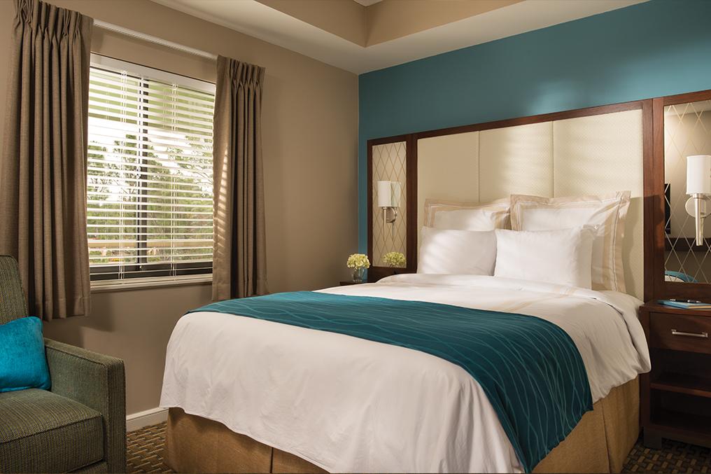 Marriott's Royal Palms Villa Master Bedroom. Marriott's Royal Palms is located in Orlando, Florida United States.