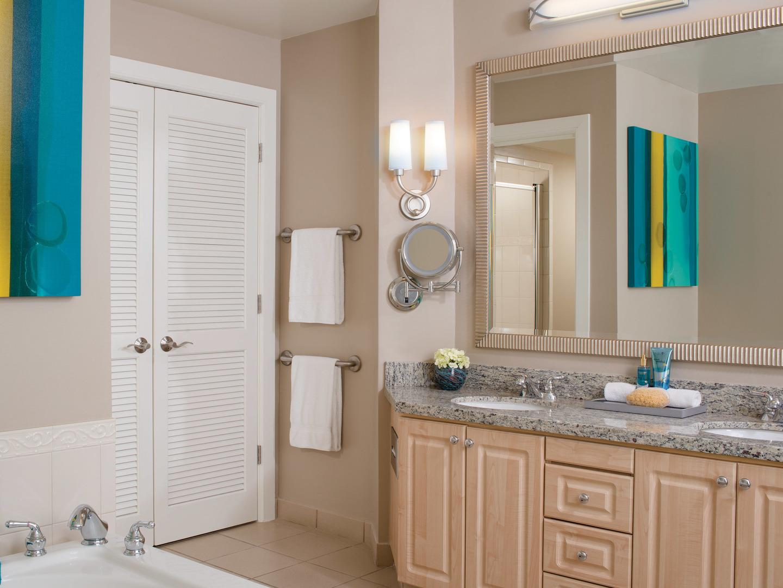 Marriott's Royal Palms Villa Master Bathroom. Marriott's Royal Palms is located in Orlando, Florida United States.