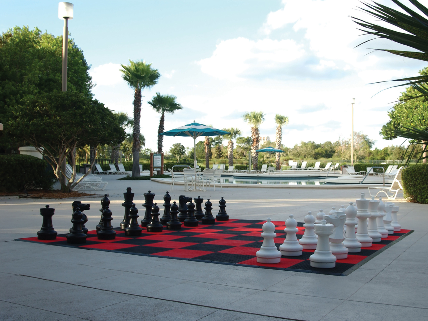 Marriott's Sabal Palms Outdoor Chess. Marriott's Sabal Palms is located in Orlando, Florida United States.