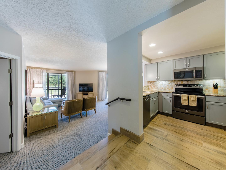 Marriott's Sabal Palms 2-Bedroom Villa Living Room. Marriott's Sabal Palms is located in Orlando, Florida United States.