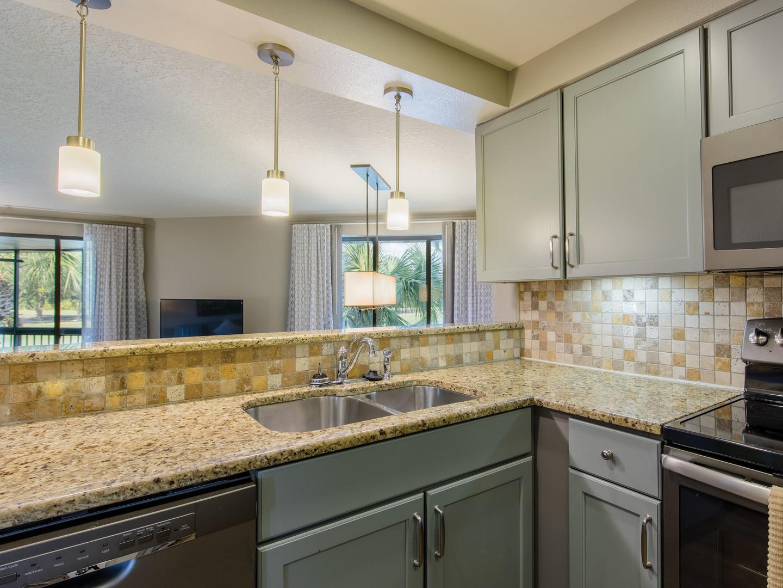 Marriott's Sabal Palms 2-Bedroom Villa Kitchen. Marriott's Sabal Palms is located in Orlando, Florida United States.