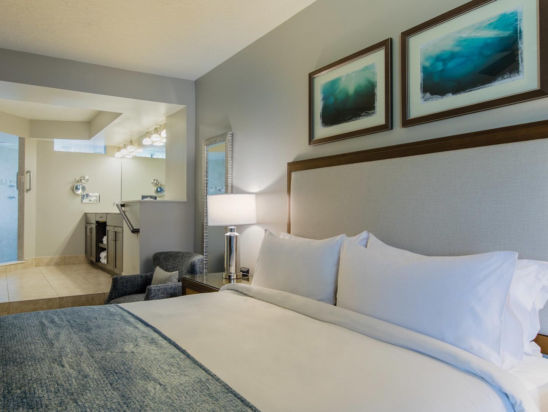 Marriott's Sabal Palms 2-Bedroom Villa Master Bedroom. Marriott's Sabal Palms is located in Orlando, Florida United States.