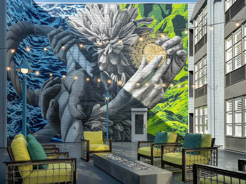 Marriott Vacation Club Pulse<span class='trademark'>®</span>, San Francisco Courtyard Mural. Marriott Vacation Club Pulse<span class='trademark'>®</span>, San Francisco is located in San Francisco, California United States.
