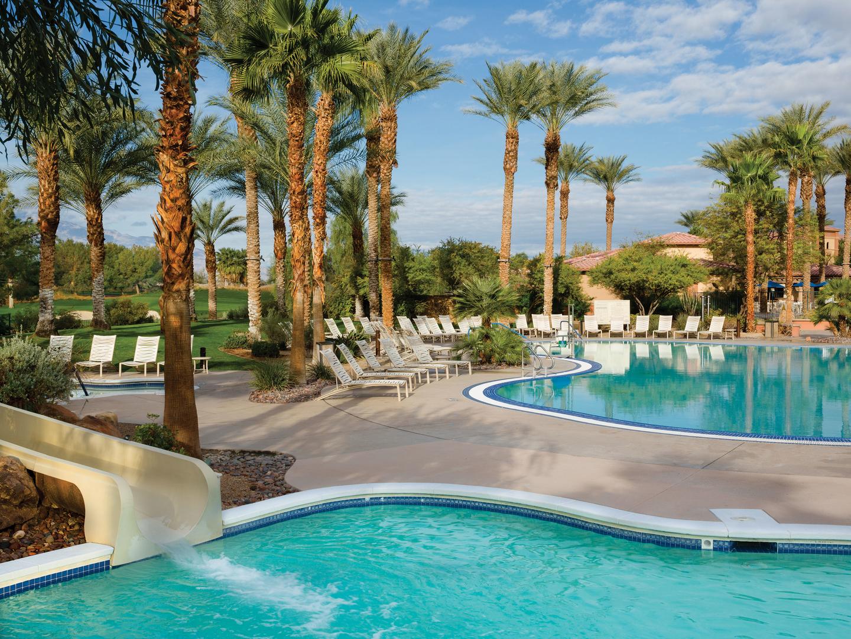 Marriott's Shadow Ridge Main Pool. Marriott's Shadow Ridge is located in Palm Desert, California United States.