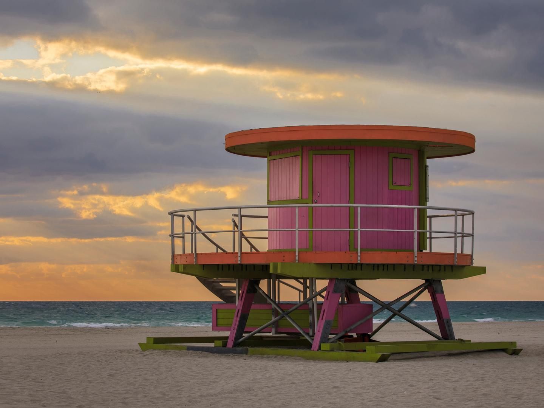 Marriott Vacation Club Pulse<span class='trademark'>®</span>, South Beach Miami Beach Lifeguard Tower. Marriott Vacation Club Pulse<span class='trademark'>®</span>, South Beach is located in Miami Beach, Florida United States.