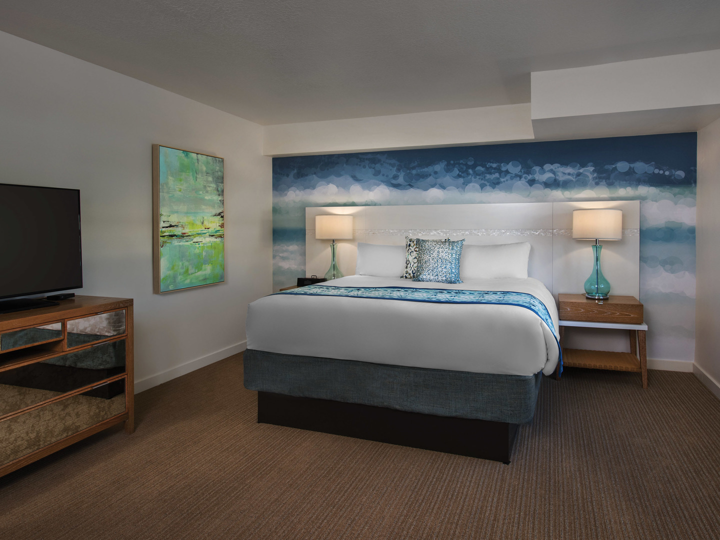 Marriott Vacation Club Pulse<span class='trademark'>®</span>, South Beach 2-Bedroom Suite Master Bedroom. Marriott Vacation Club Pulse<span class='trademark'>®</span>, South Beach is located in Miami Beach, Florida United States.