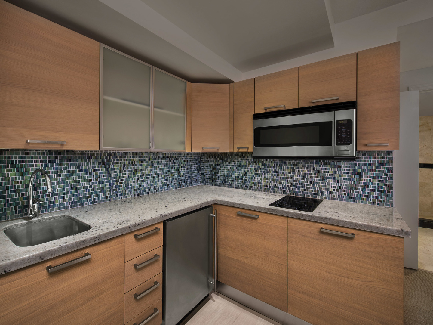 Marriott Vacation Club Pulse<span class='trademark'>®</span>, South Beach 2-Bedroom Suite Kitchen. Marriott Vacation Club Pulse<span class='trademark'>®</span>, South Beach is located in Miami Beach, Florida United States.