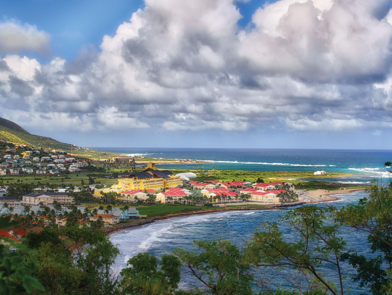 Marriott's St. Kitts Beach Club Aerial Resort View. Marriott's St. Kitts Beach Club is located in St. Kitts,  St. Kitts and Nevis.