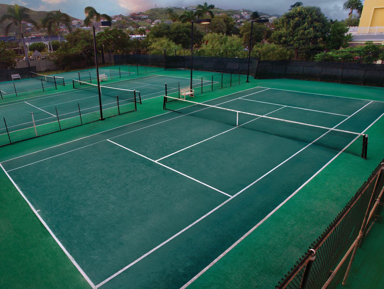 Marriott's St. Kitts Beach Club Tennis Court. Marriott's St. Kitts Beach Club is located in St. Kitts,  St. Kitts and Nevis.
