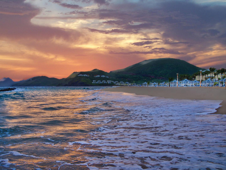 Marriott's St. Kitts Beach Club Resort Beach Front Exterior. Marriott's St. Kitts Beach Club is located in St. Kitts,  St. Kitts and Nevis.
