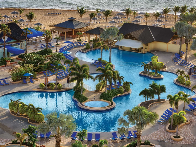 Marriott's St. Kitts Beach Club Main Pool. Marriott's St. Kitts Beach Club is located in St. Kitts,  St. Kitts and Nevis.