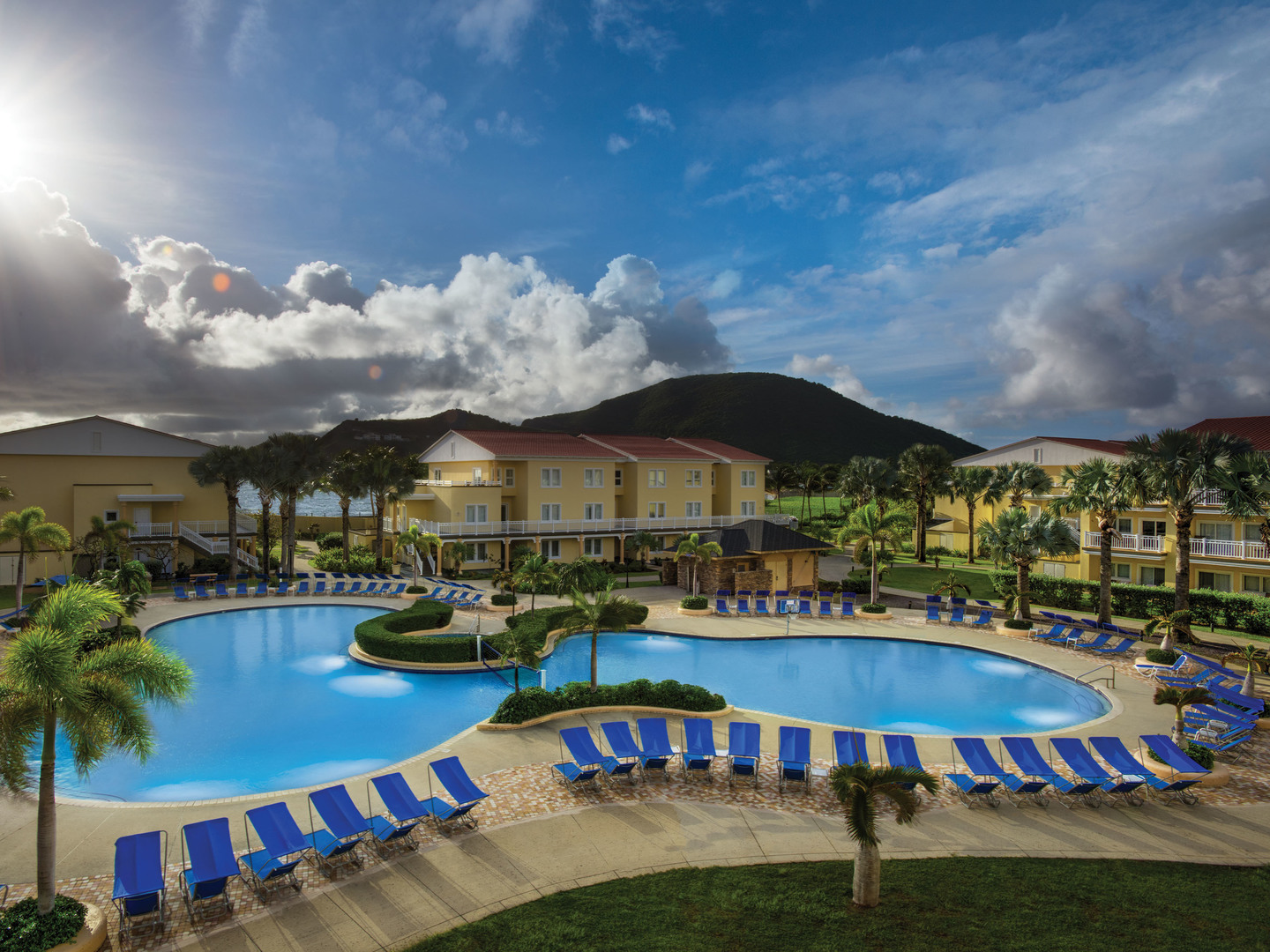Marriott's St. Kitts Beach Club South Pool. Marriott's St. Kitts Beach Club is located in St. Kitts,  St. Kitts and Nevis.