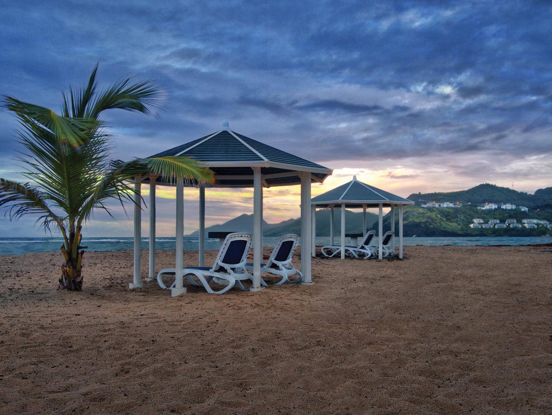 Marriott's St. Kitts Beach Club Beach Gazebos. Marriott's St. Kitts Beach Club is located in St. Kitts,  St. Kitts and Nevis.