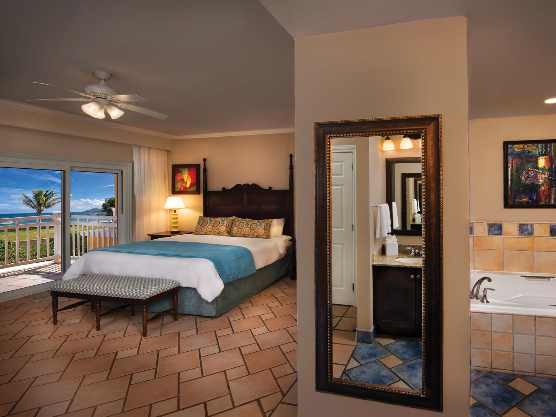 Marriott's St. Kitts Beach Club Villa Master Bedroom. Marriott's St. Kitts Beach Club is located in St. Kitts,  St. Kitts and Nevis.