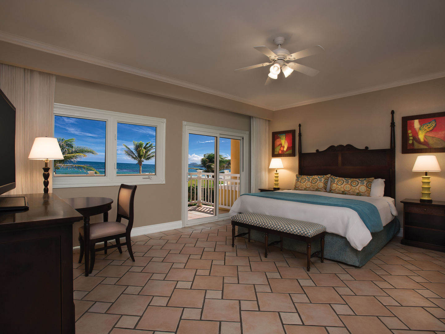 Marriott's St. Kitts Beach Club Villa Guest Bedroom - King. Marriott's St. Kitts Beach Club is located in St. Kitts,  St. Kitts and Nevis.