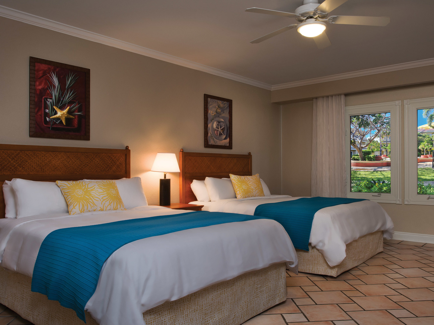 Marriott's St. Kitts Beach Club Villa Guest Bedroom - Double Double. Marriott's St. Kitts Beach Club is located in St. Kitts,  St. Kitts and Nevis.