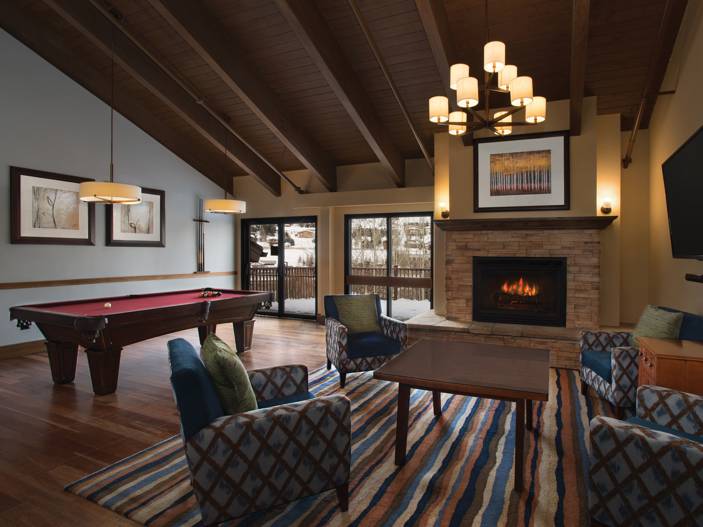 Marriott's StreamSide - Birch Owners Lounge/Billiards. Marriott's StreamSide - Birch is located in Vail, Colorado United States.