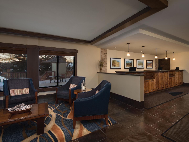 Marriott's StreamSide - Birch Lobby. Marriott's StreamSide - Birch is located in Vail, Colorado United States.