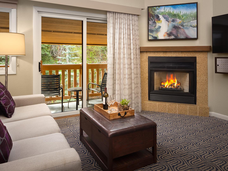 Marriott's StreamSide - Birch Villa Studio Living Room, Birch. Marriott's StreamSide - Birch is located in Vail, Colorado United States.