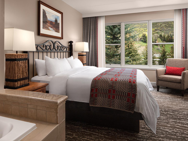 Marriott's StreamSide - Birch 2-Bedroom/2 Bath Villa Master Bedroom, Evergreen. Marriott's StreamSide - Birch is located in Vail, Colorado United States.