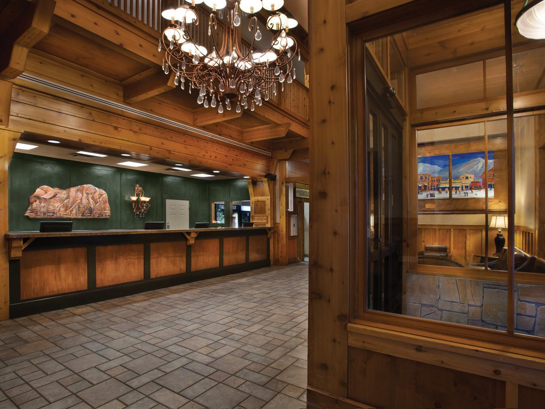 Marriott's Summit Watch Lobby. Marriott's Summit Watch is located in Park City, Utah United States.