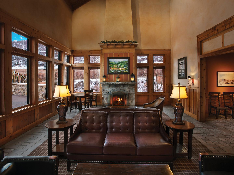 Marriott's Summit Watch Lounge. Marriott's Summit Watch is located in Park City, Utah United States.