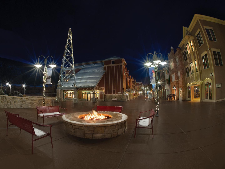 Marriott's Summit Watch Fire Pit. Marriott's Summit Watch is located in Park City, Utah United States.