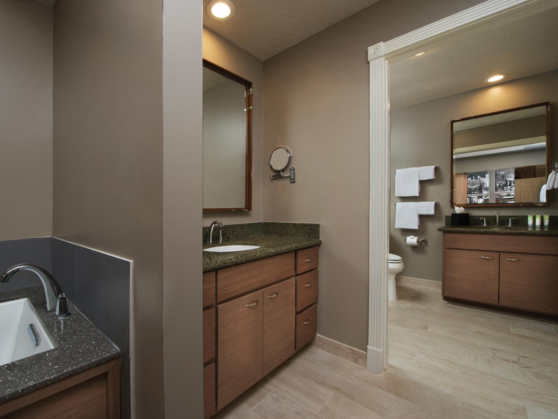Marriott's Summit Watch Villa Master Bathroom. Marriott's Summit Watch is located in Park City, Utah United States.
