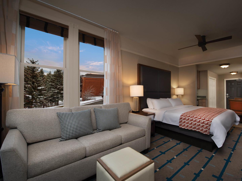 Marriott's Summit Watch Villa Guest Living Room/Bedroom. Marriott's Summit Watch is located in Park City, Utah United States.