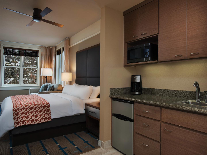 Marriott's Summit Watch Villa Guest Bedroom/Kitchenette. Marriott's Summit Watch is located in Park City, Utah United States.