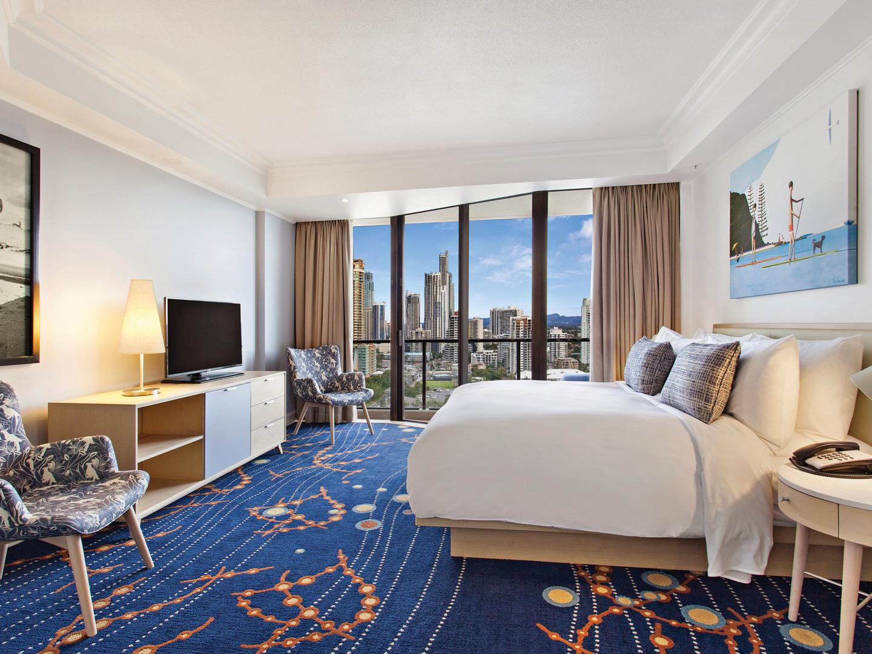 Marriott Vacation Club<span class='trademark'>℠</span> at Surfers Paradise Suite Master Bedroom. Marriott Vacation Club<span class='trademark'>℠</span> at Surfers Paradise is located in Gold Coast, Surfers Paradise Australia.