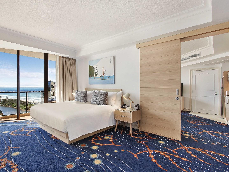 Marriott Vacation Club<span class='trademark'>℠</span> at Surfers Paradise Guestroom Master Bedroom/Living Room. Marriott Vacation Club<span class='trademark'>℠</span> at Surfers Paradise is located in Gold Coast, Surfers Paradise Australia.