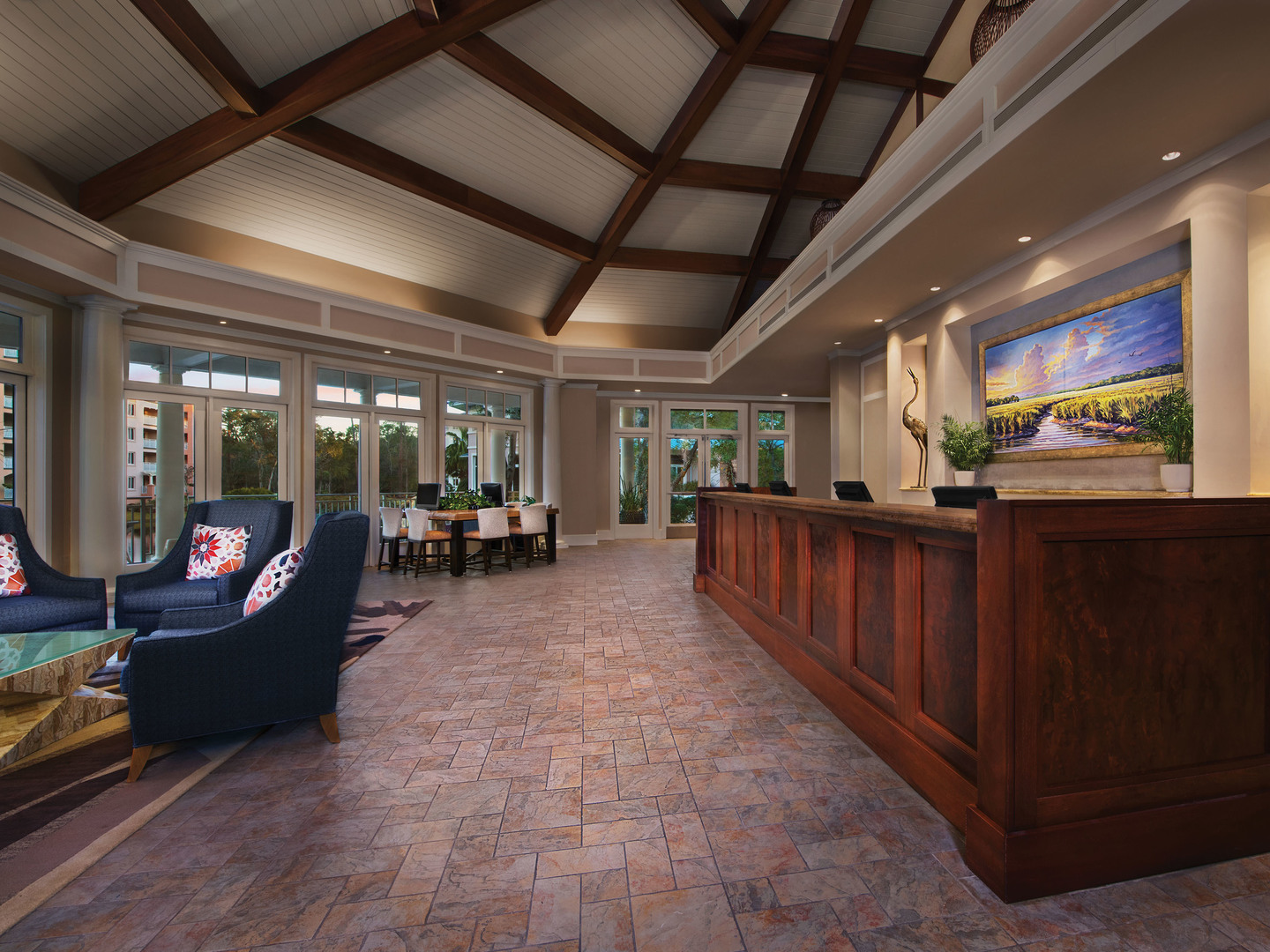 Marriott's SurfWatch<span class='trademark'>®</span> Lobby. Marriott's SurfWatch<span class='trademark'>®</span> is located in Hilton Head Island, South Carolina United States.