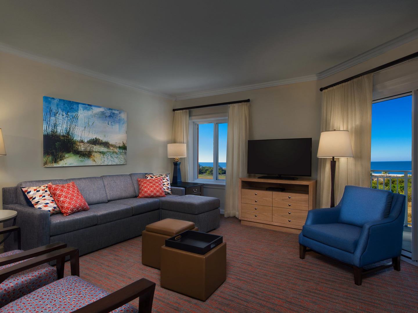 Marriott's SurfWatch<span class='trademark'>®</span> Villa Living Room. Marriott's SurfWatch<span class='trademark'>®</span> is located in Hilton Head Island, South Carolina United States.