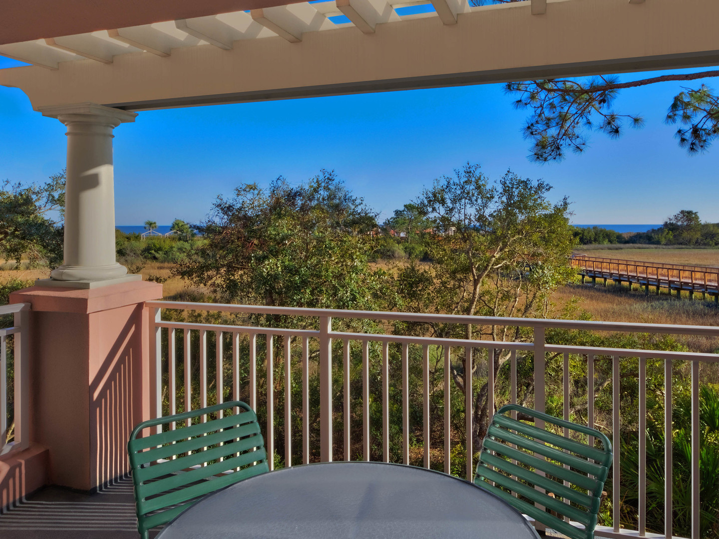 Marriott's SurfWatch<span class='trademark'>®</span> Villa Balcony. Marriott's SurfWatch<span class='trademark'>®</span> is located in Hilton Head Island, South Carolina United States.