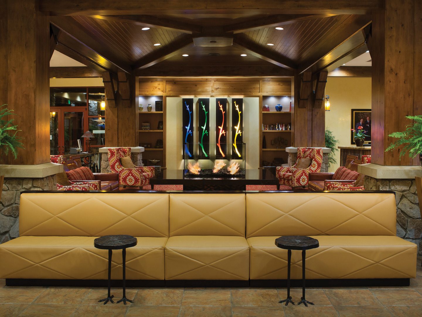 Marriott's Timber Lodge<span class='trademark'>®</span> Lobby. Marriott's Timber Lodge<span class='trademark'>®</span> is located in South Lake Tahoe, California United States.