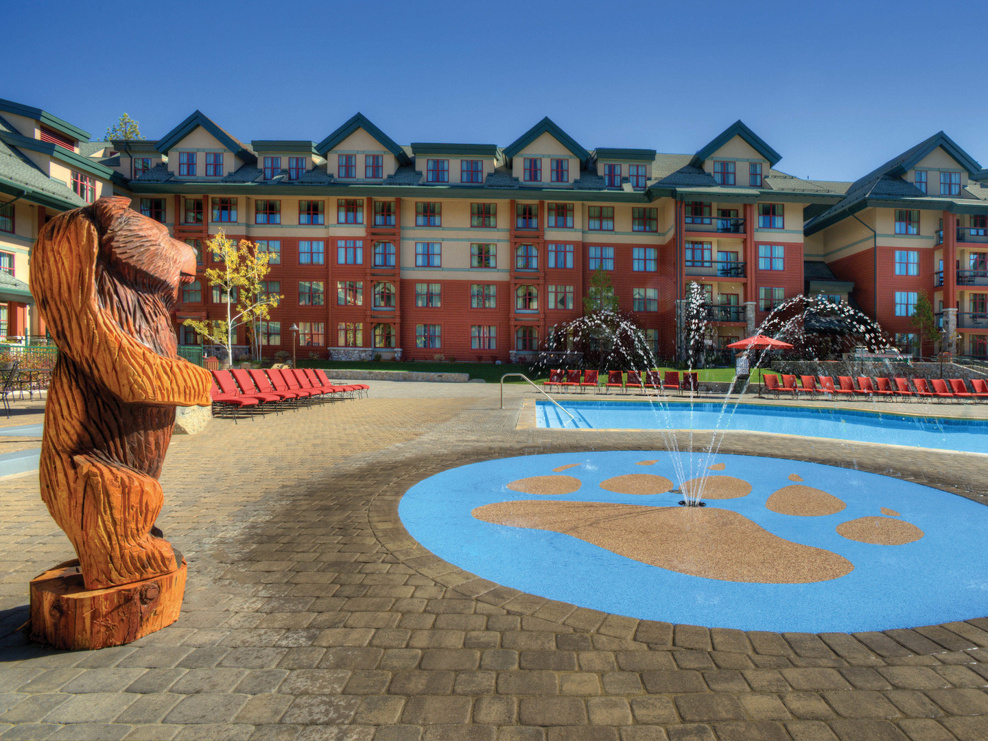 Marriott's Timber Lodge<span class='trademark'>®</span> Splash Pad. Marriott's Timber Lodge<span class='trademark'>®</span> is located in South Lake Tahoe, California United States.