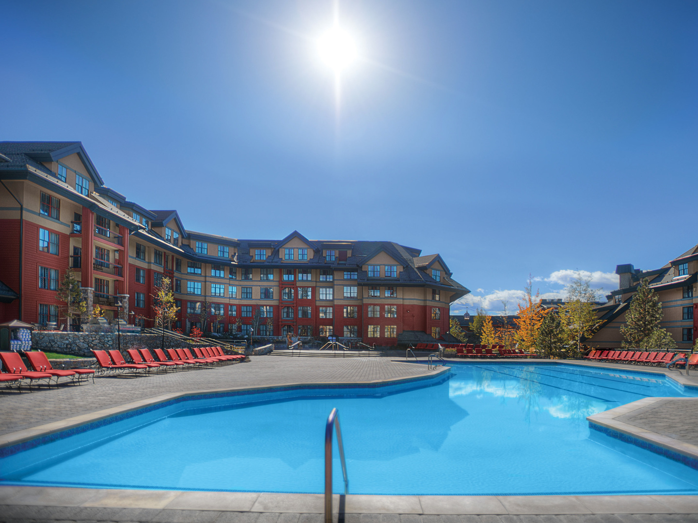 Marriott's Timber Lodge<span class='trademark'>®</span> Main Pool. Marriott's Timber Lodge<span class='trademark'>®</span> is located in South Lake Tahoe, California United States.